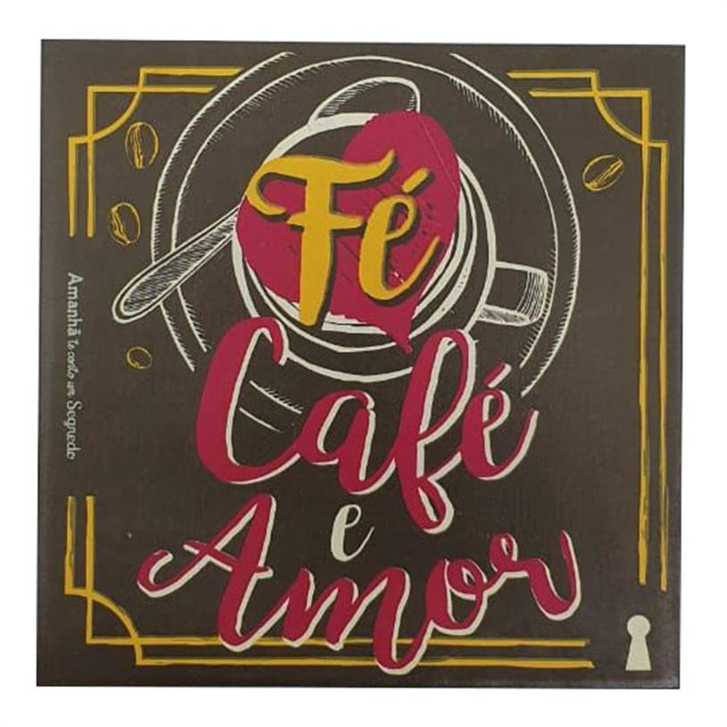 Imagem - IMÃ FÉ CAFÉ E AMOR 09X09CM cód: 39687