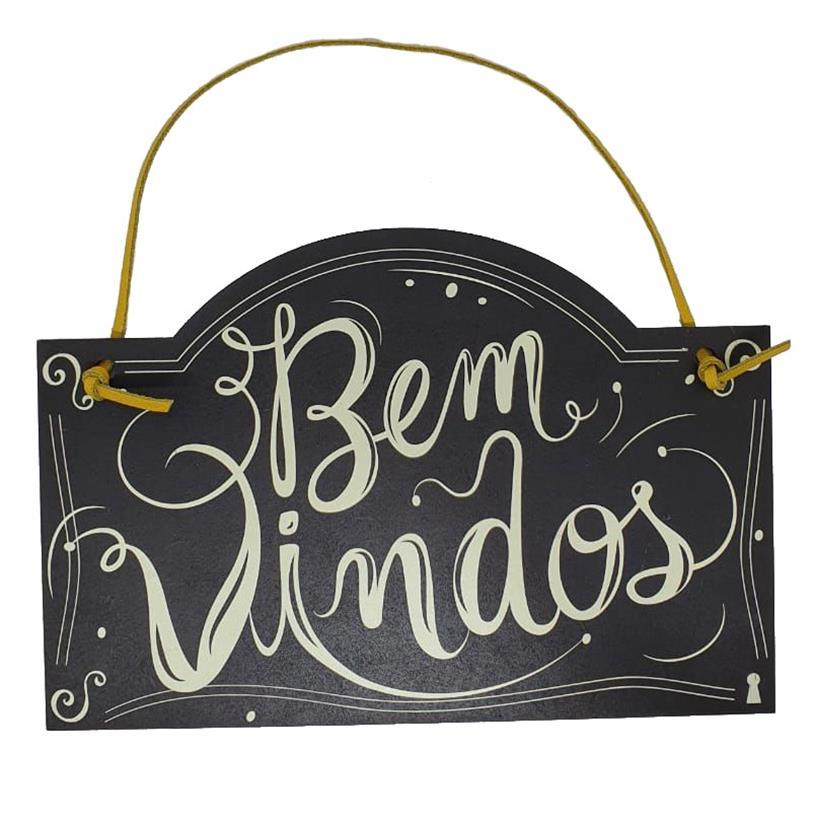 Imagem - PLACA DE PORTA BEM VINDOS cód: 39696