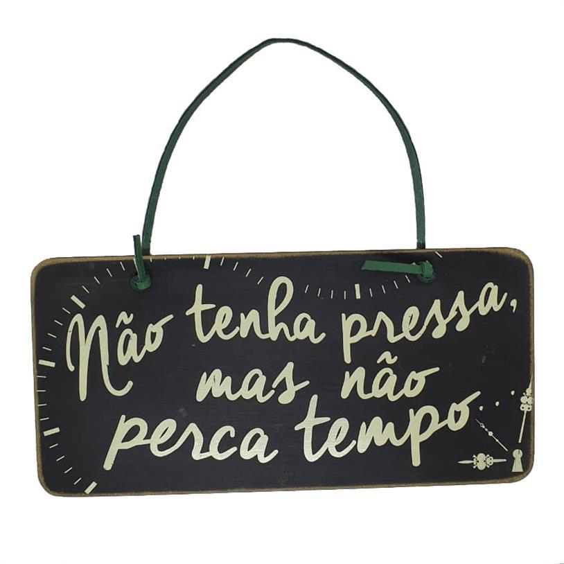 Imagem - PLACA DE PORTA NÃO PERCA TEMPO cód: 39697