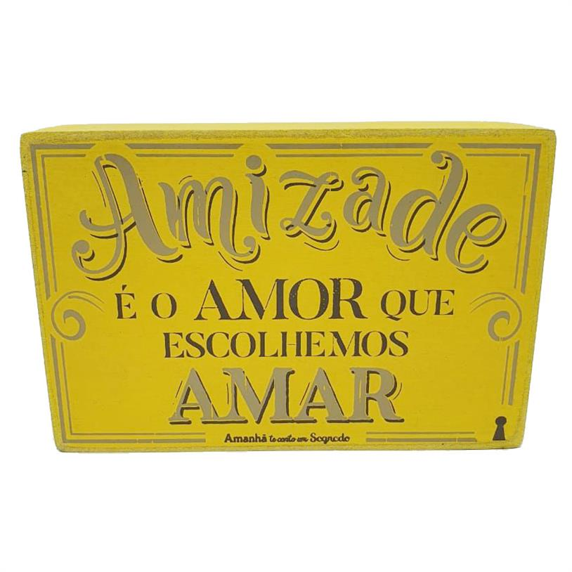 Imagem - QUADRO BOX AMIZADE AMOR 10X15CM cód: 39709