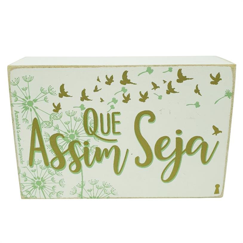 Imagem - QUADRO BOX ASSIM SEJA 10X15CM cód: 39710