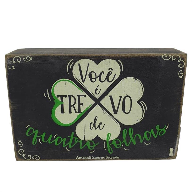 Imagem - QUADRO BOX TREVO 10X15CM cód: 39712