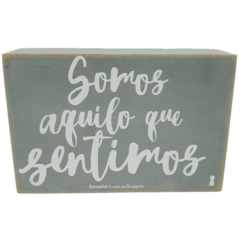 Imagem - QUADRO BOX SOMOS SENTIMOS 10X15CM cód: 39713