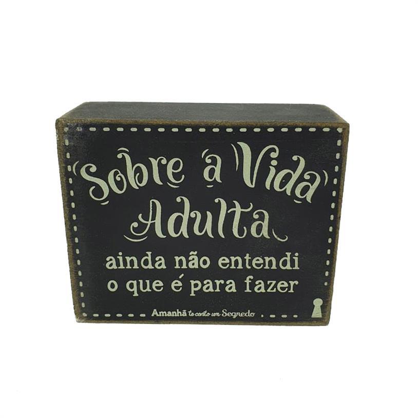 Imagem - QUADRO BOX VIDA ADULTA 08X10CM cód: 39714