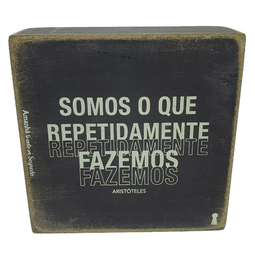 Imagem - QUADRO BOX REPETIDAMENTE 12X12CM cód: 39723