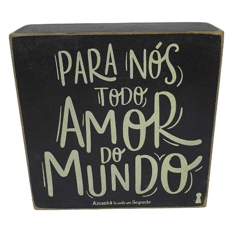 Imagem - QUADRO BOX TODO AMOR 12X12CM cód: 39724