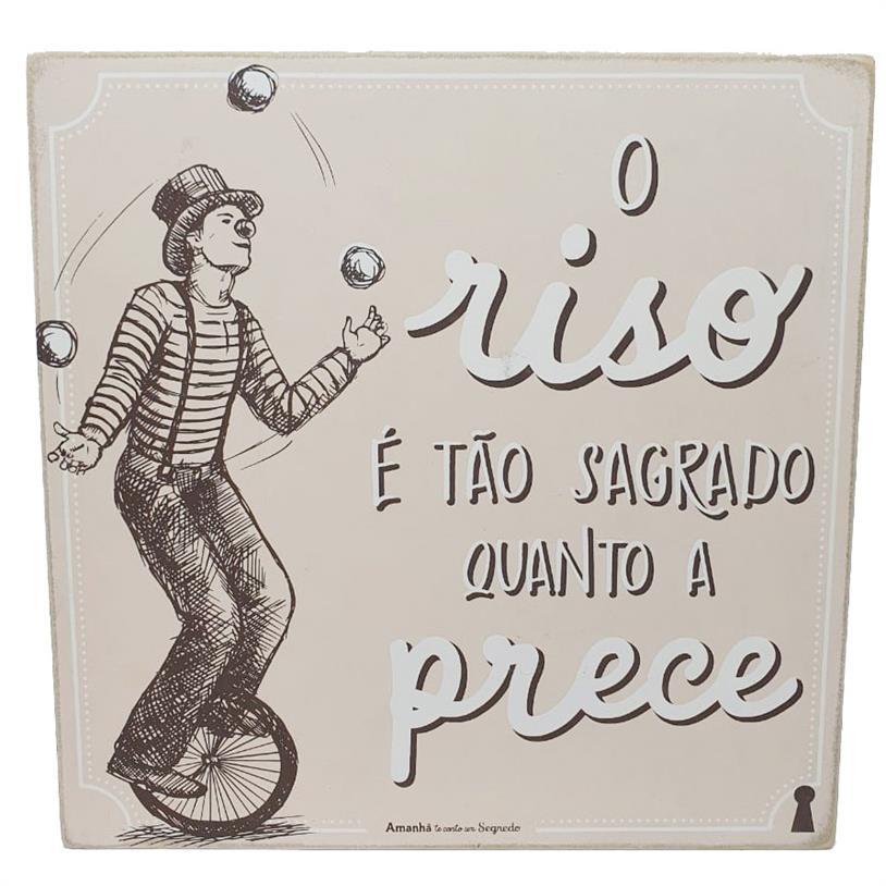 Imagem - QUADRO BOX O RISO 25X25CM cód: 39727