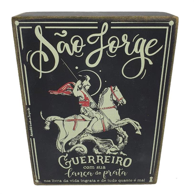 Imagem - QUADRO BOX SÃO JORGE 15X20CM cód: 39739