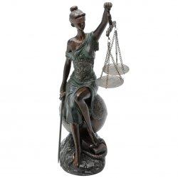Imagem - ESCULTURA DAMA DA JUSTIÇA 35X17X15CM cód: 40210