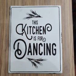Imagem - PLACA METAL KITCHEN WHITE 46X36X02CM cód: 38536