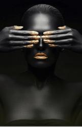 Imagem - QUADRO BLACK GOLD 90X70CM cód: 40358