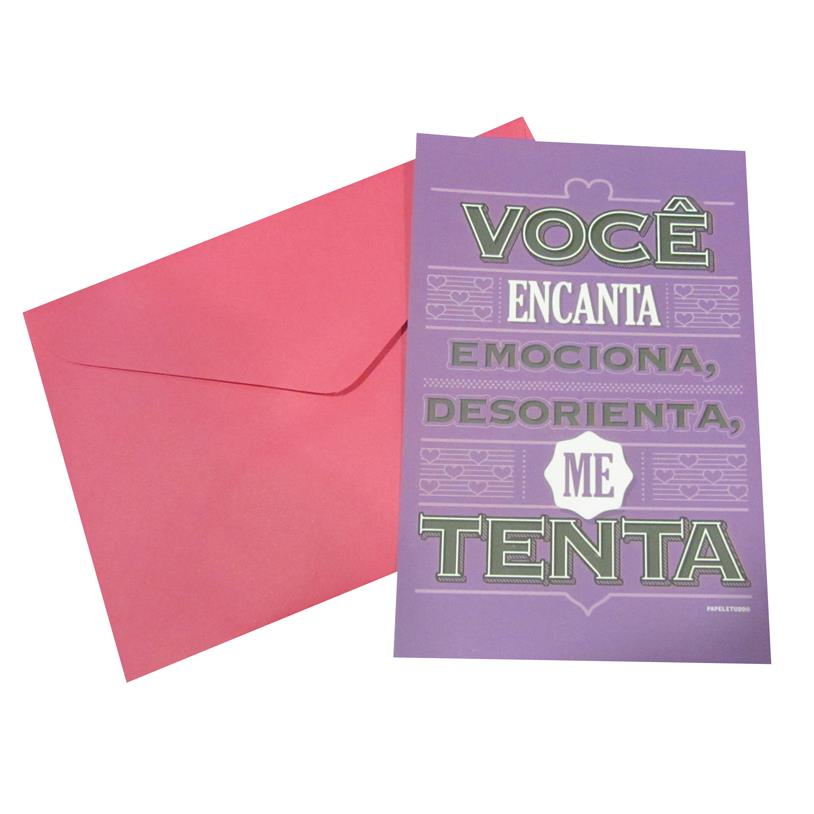 CARTÃO POSTAL VOCÊ ME TENTA