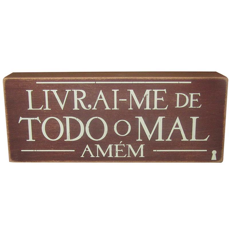 QUADRO BOX LIVRAI-ME 12X30CM