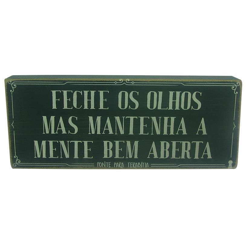 QUADRO BOX FECHE OS OLHOS 12X30CM