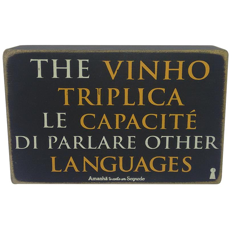 QUADRO BOX THE VINHO TRIPLICA 10X15CM