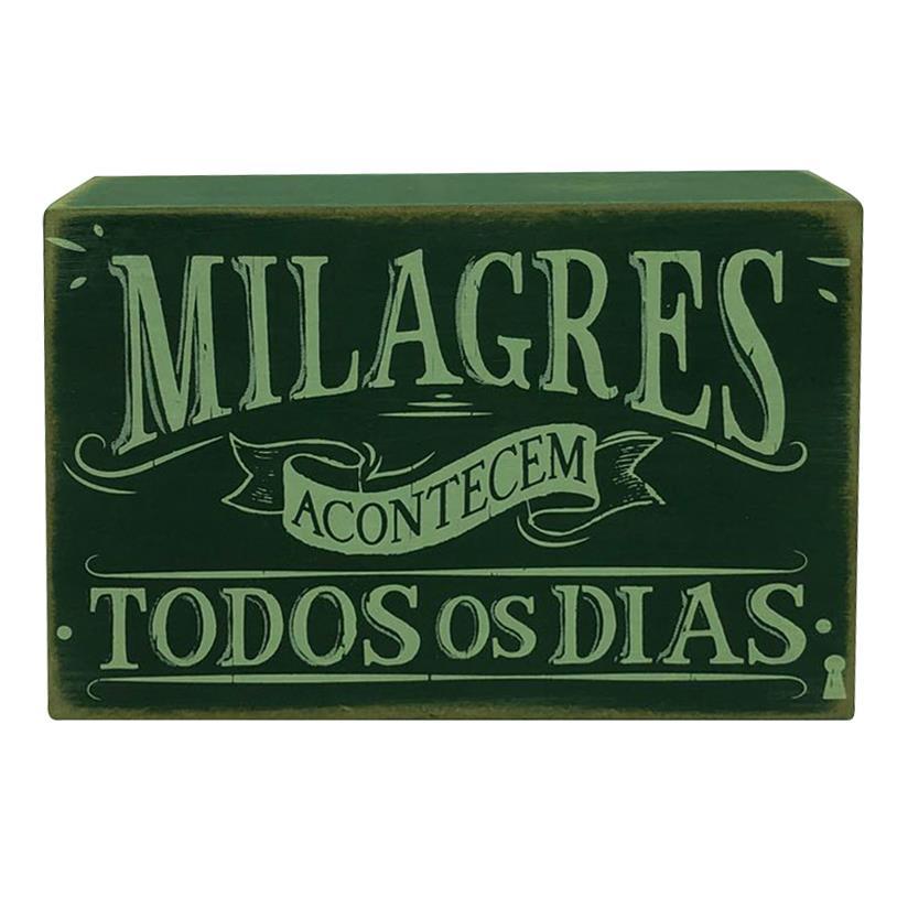 QUADRO BOX MILAGRES 10X15CM