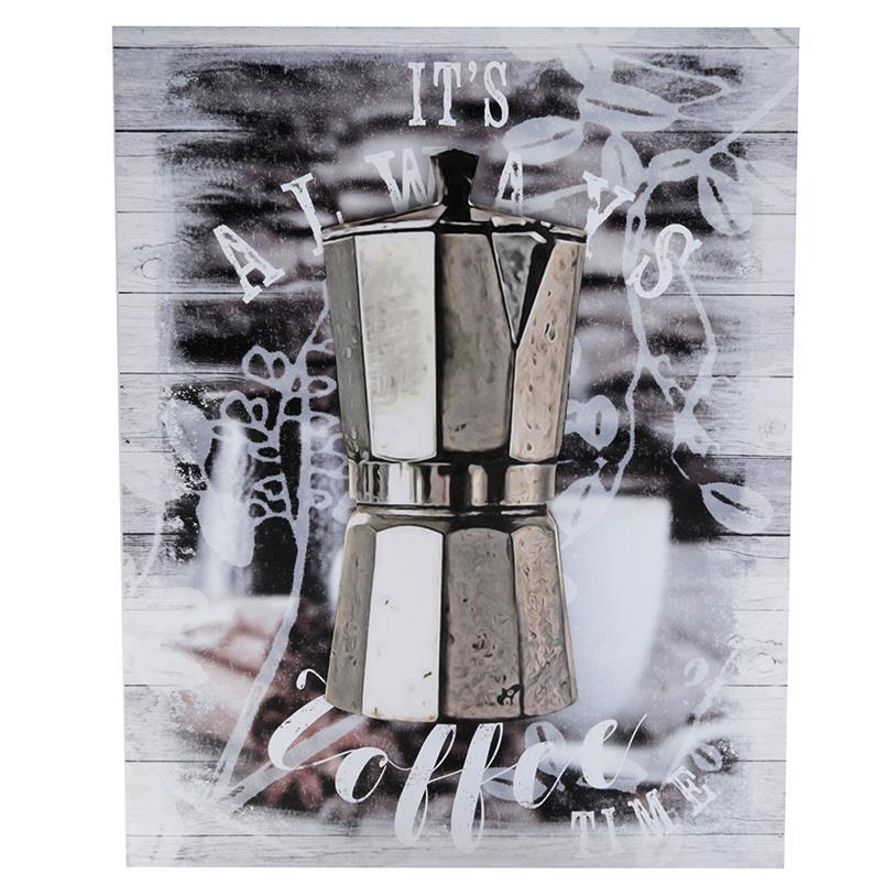 QUADRO ITALIAN COFFEE MAKER 40X50CM