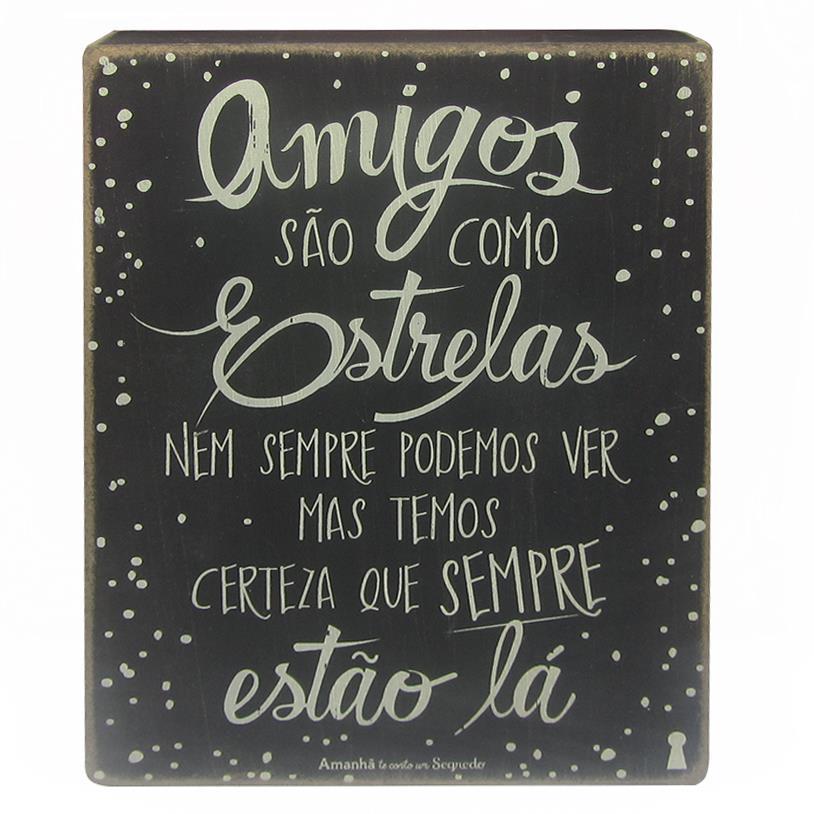 QUADRO BOX AMIGOS ESTRELAS 15X20CM