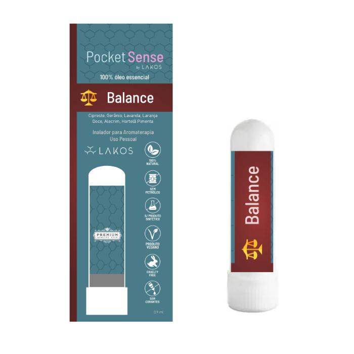 Inalador Óleos Essenciais Pocket Sense - Balance
