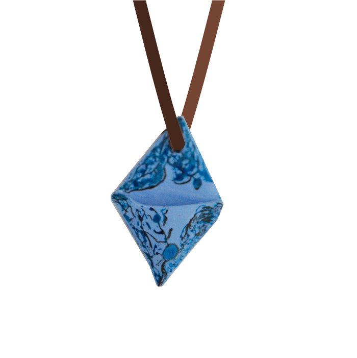 Difusor Pessoal Colar Aromático Diamante azul