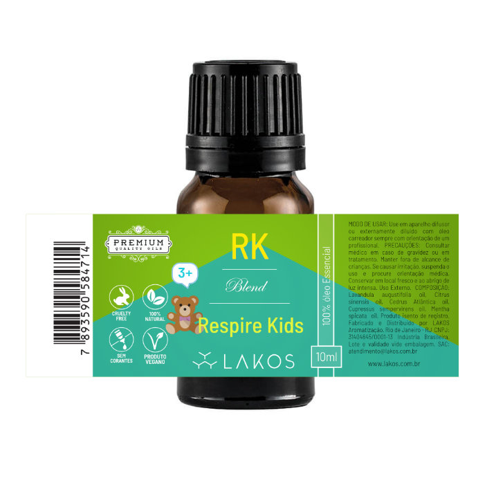 Blend de Óleos Essenciais Respire Kids 10ml - Lakos 2