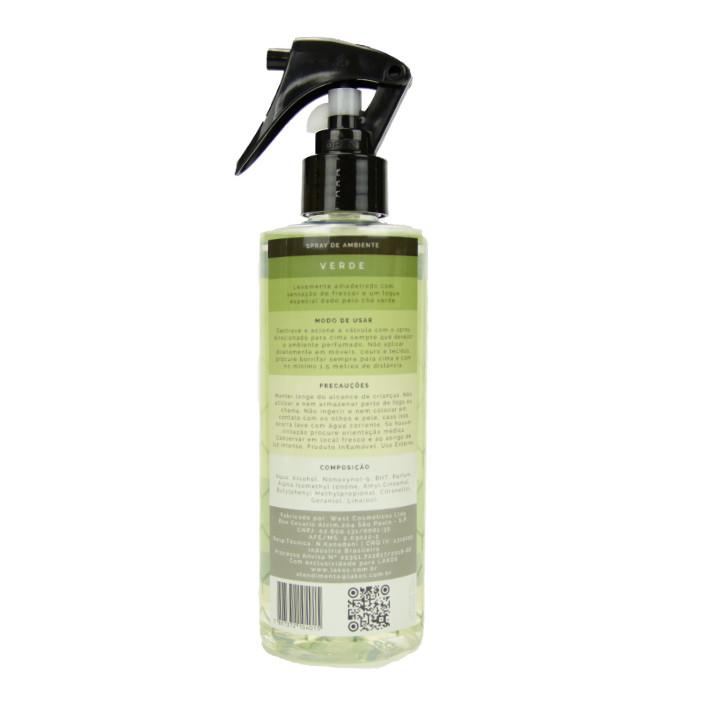 Spray de Ambiente 250ml LAKOS Verde 2
