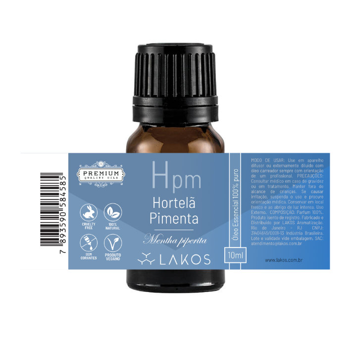 Óleo Essencial de Hortelã Pimenta 10ml - Lakos 2