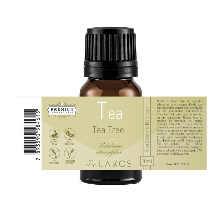Óleo Essencial de Tea Tree - Melaleuca - 10ml -  Lakos 2