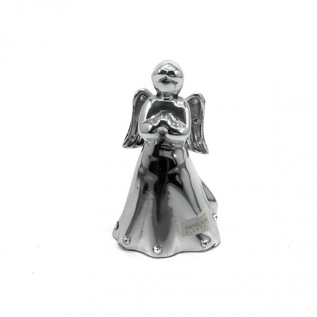 Escultura Anjo em Alumínio com Swarovski