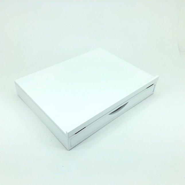 Apoio Para Livro e Tablet Com Gaveta Branco