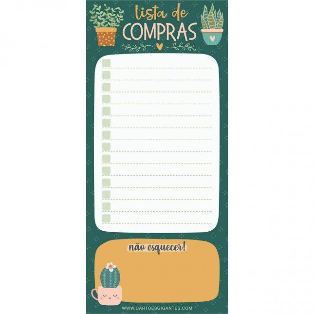 Bloco de Notas Notepad Plantinhas