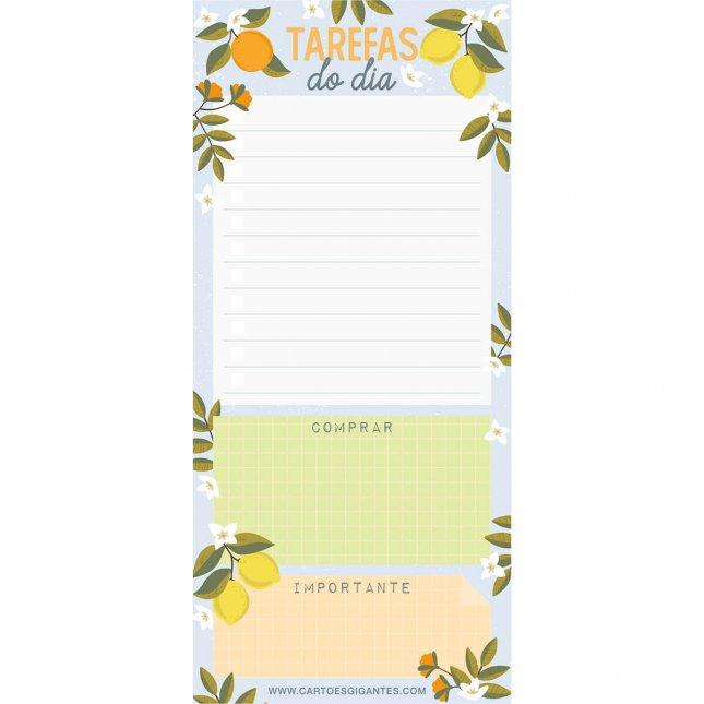 Bloco de Notas Notepad Limão e Laranja