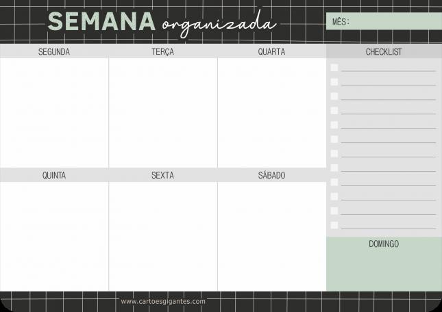 Bloco Planejamento Semanal Grid