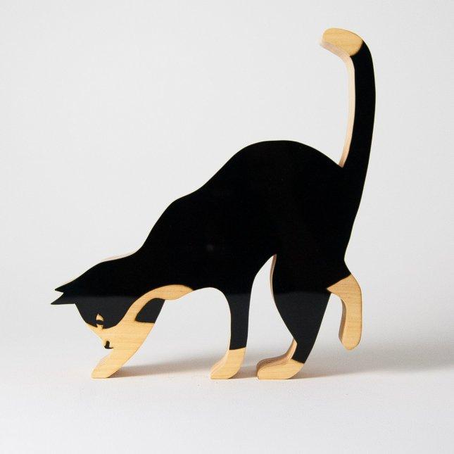 Escultura Gato Curioso