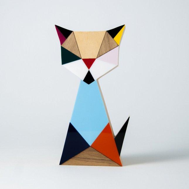 Escultura Geo Gato Color II