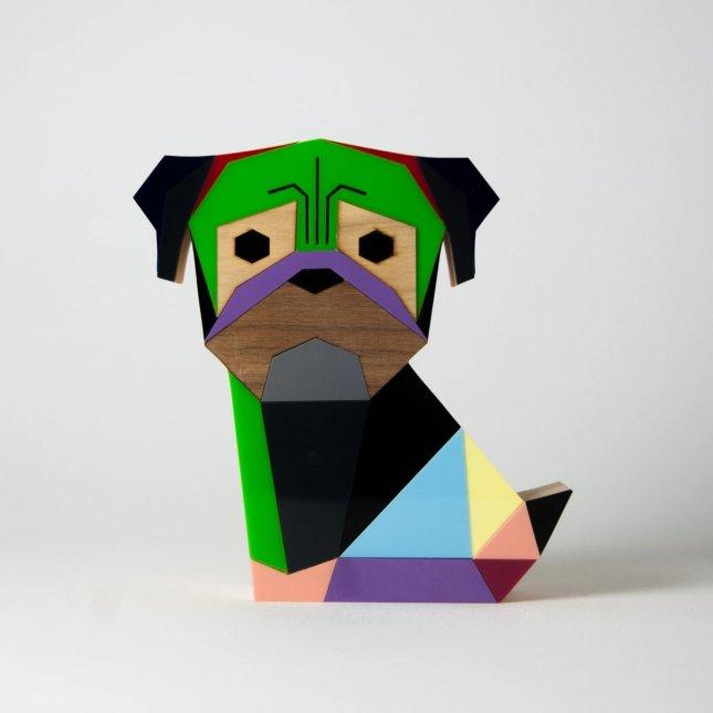 Escultura Geo Pug