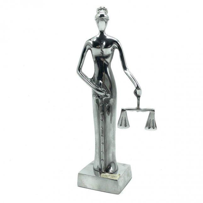 Escultura Justiça Cega com Swarovski
