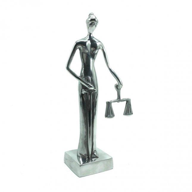 Escultura Justiça Cega em Alumínio