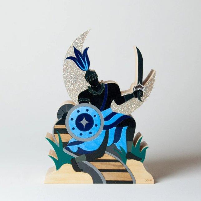 Escultura Ogum com Mensagem