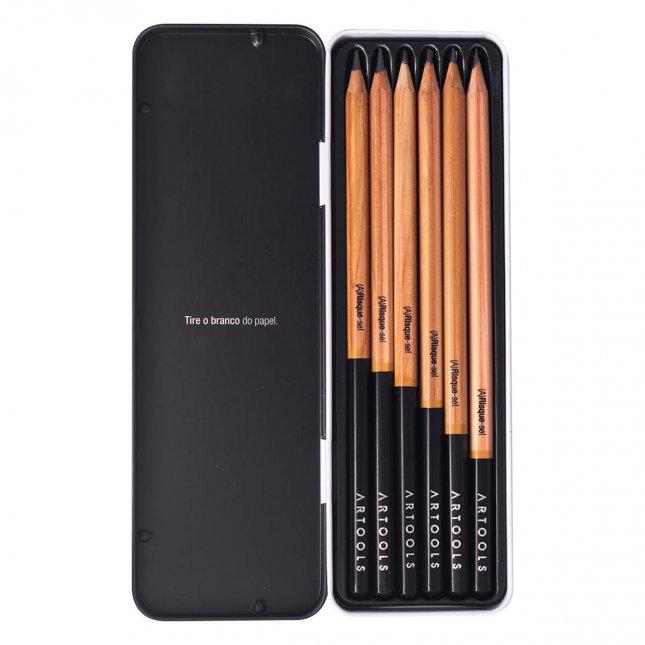 Estojo Com 6 Lápis Artools