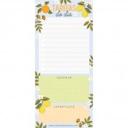 Imagem - Bloco de Notas Notepad Limão e Laranja