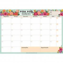 Imagem - Bloco Planejamento Mensal Floral