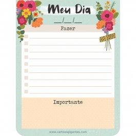 Imagem - Bloco Planejando Meu Dia Floral