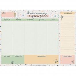 Imagem - Bloco Planejamento Semanal Minha Semana Organizada