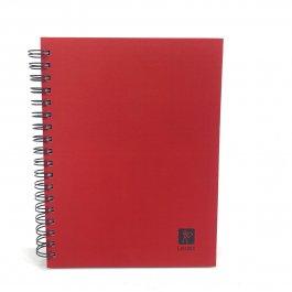Imagem - Caderno Lascaux Pautado Vermelho 18,5x24,7