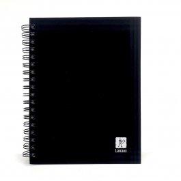 Imagem - Caderno Lascaux Quadriculado Preto 18,5x24,7