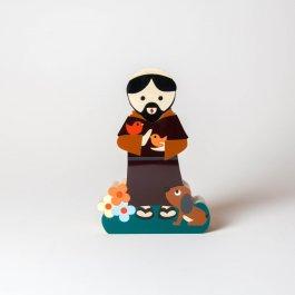 Imagem - Escultura São Francisco de Assis Mini