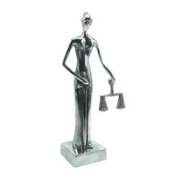 Imagem - Escultura Justiça Cega em Alumínio