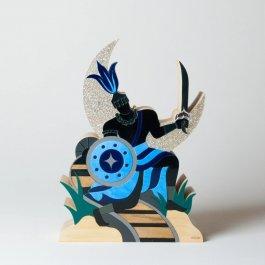 Imagem - Escultura Ogum com Mensagem