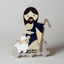 Imagem - Escultura Jesus Bom Pastor Mini